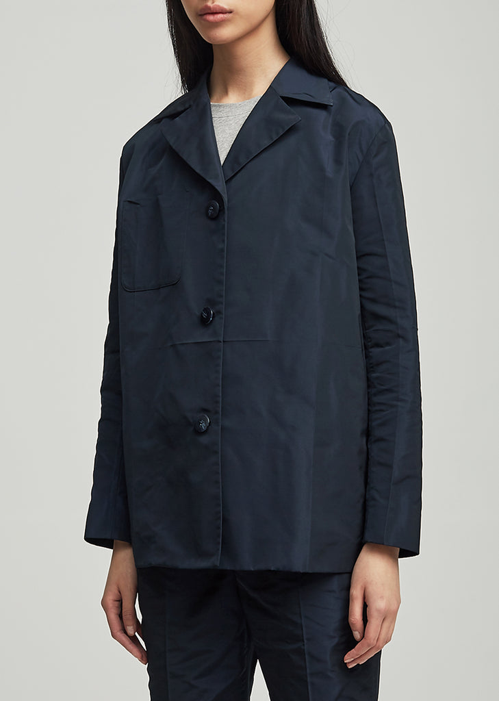 Karlin Single Breasted Taffeta Jacket