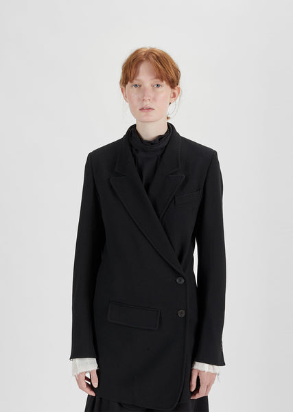 Wrapover Wool Blazer