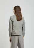 Round Collar Cotton Blazer