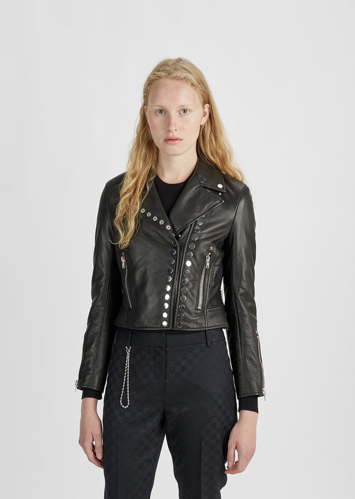 Cropped Sleeve Moto Jacket