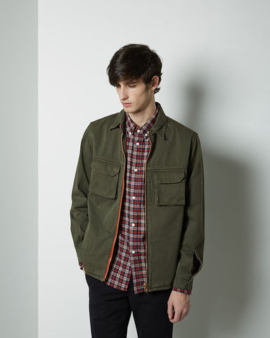 Zip-Front Shirt Jacket