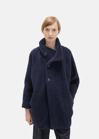 Pile Fur Stand Collar Coat