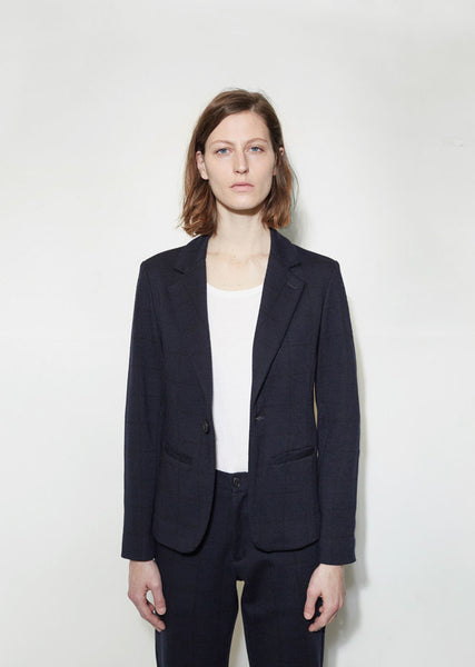 BLUE BLUE JAPAN Compressed Wool Jacket La Garconne