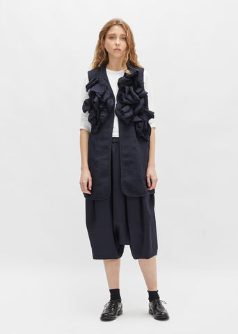 Double Cloth Serge Ruffle Vest