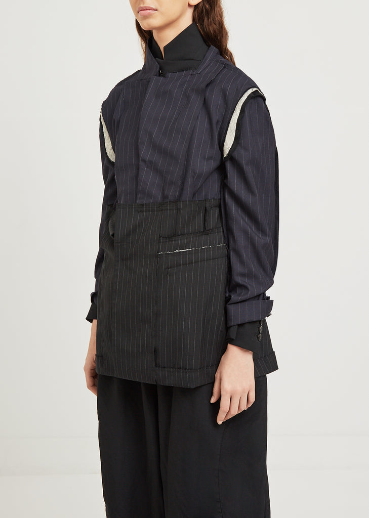 Deconstructed Stripe Jacket