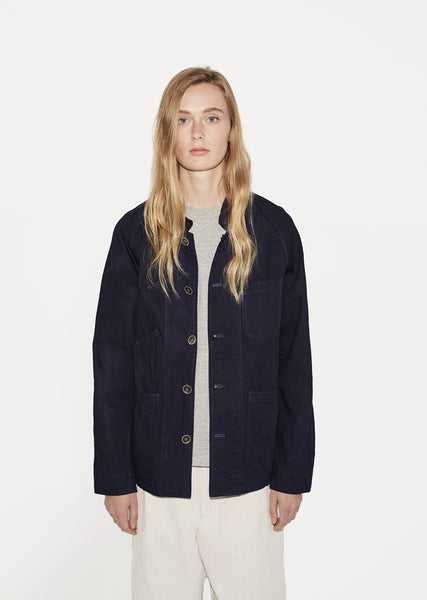 Unisex Indigo Railroad Jacket
