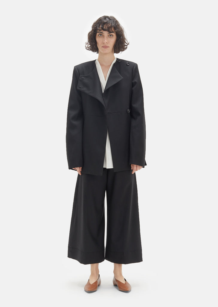 Wool Asymmetrical Suit Jacket