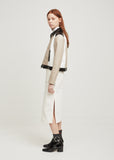 Short Zipped Tricolor Jacket