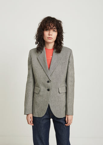 Single Breasted Notched Lapel Blazer