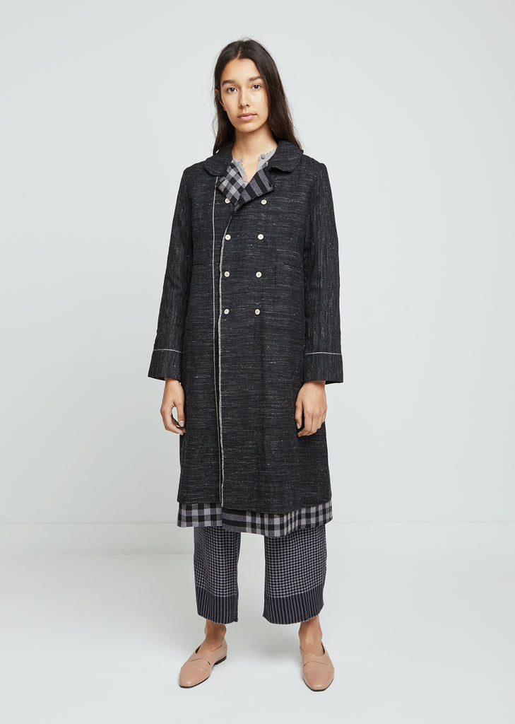 Checked Double Breasted Jacket