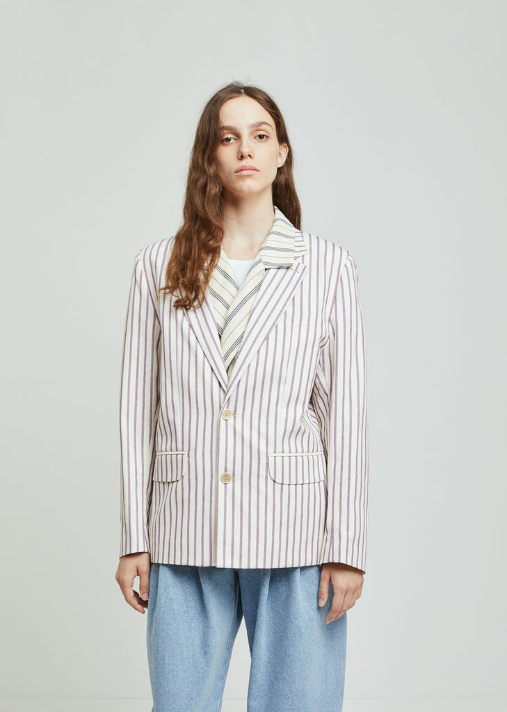 Double Layer Striped Jacket