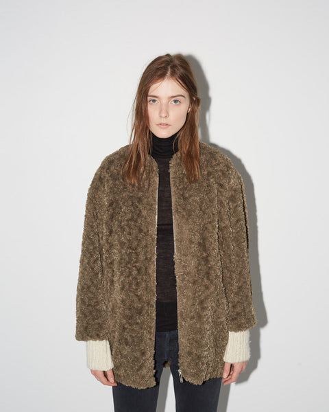 Isabel Marant Étoile Abril Easy Fur Jacket La Garconne
