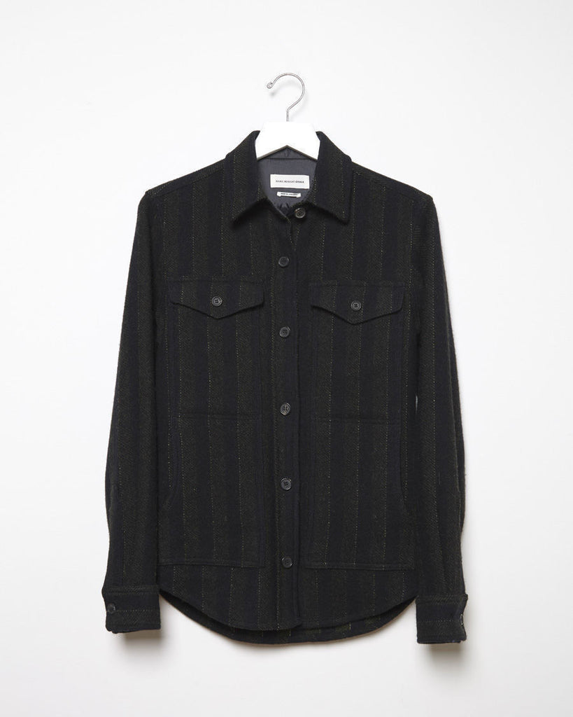 Jasia Striped Shirt Jacket