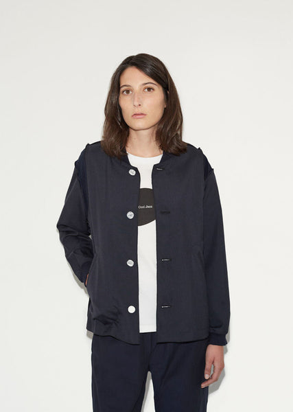 Julien David Tropical Wool Varsity Jacket La Garconne