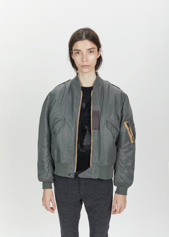 Nylon Twill Bomber Jacket