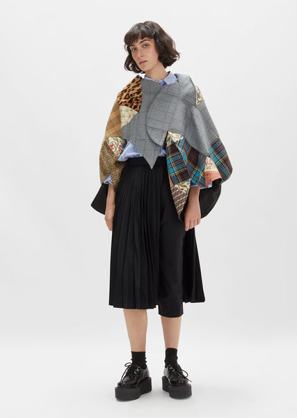Multicolor Patchwork Asymmetrical Jacket