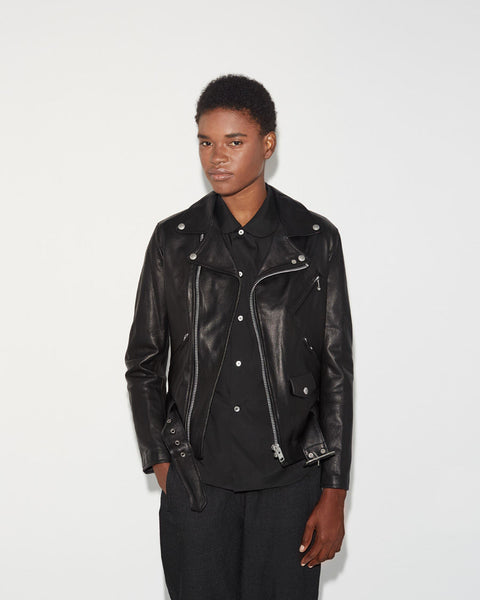 Junya Watanabe Leather Moto Jacket La Garconne