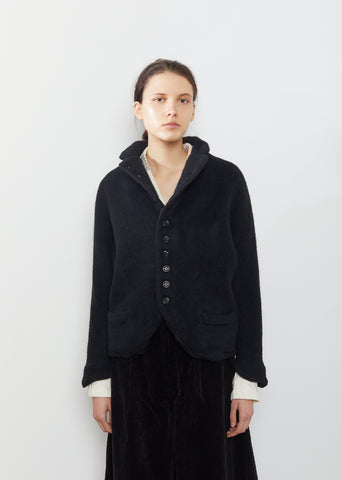 Shaggy Melton Wool Jacket
