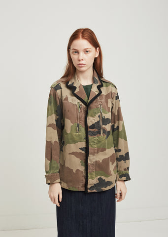 Vroom Camouflage Cotton Blend Military Jacket