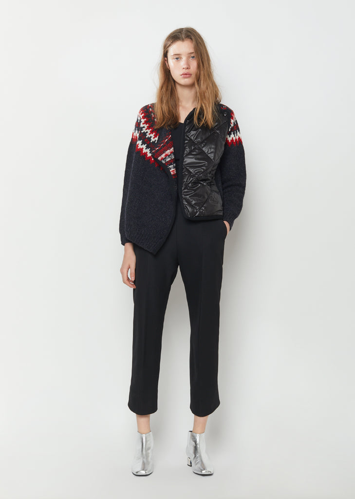 Wool Quilted Cardigan Jacket