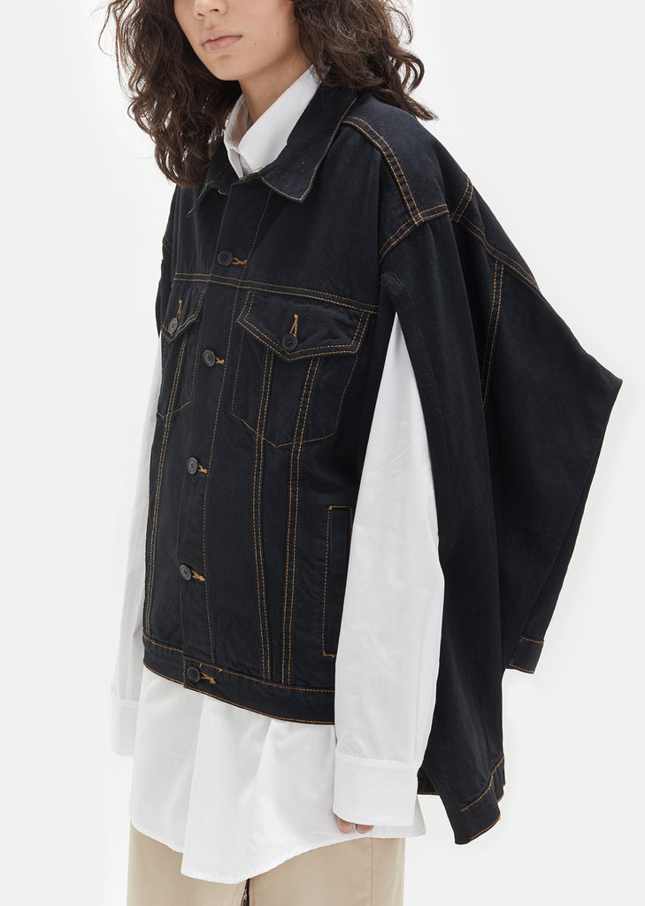 Unisex Vintage Denim Cape