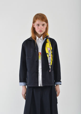 Bonded Cotton Linen Drill Jacket