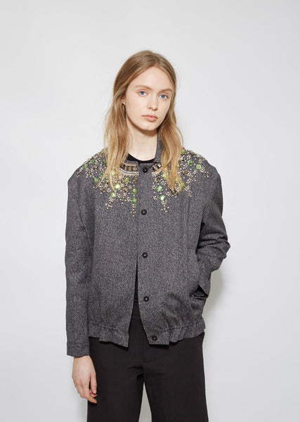Marni Jeweled Cotton Jacket La Garconne