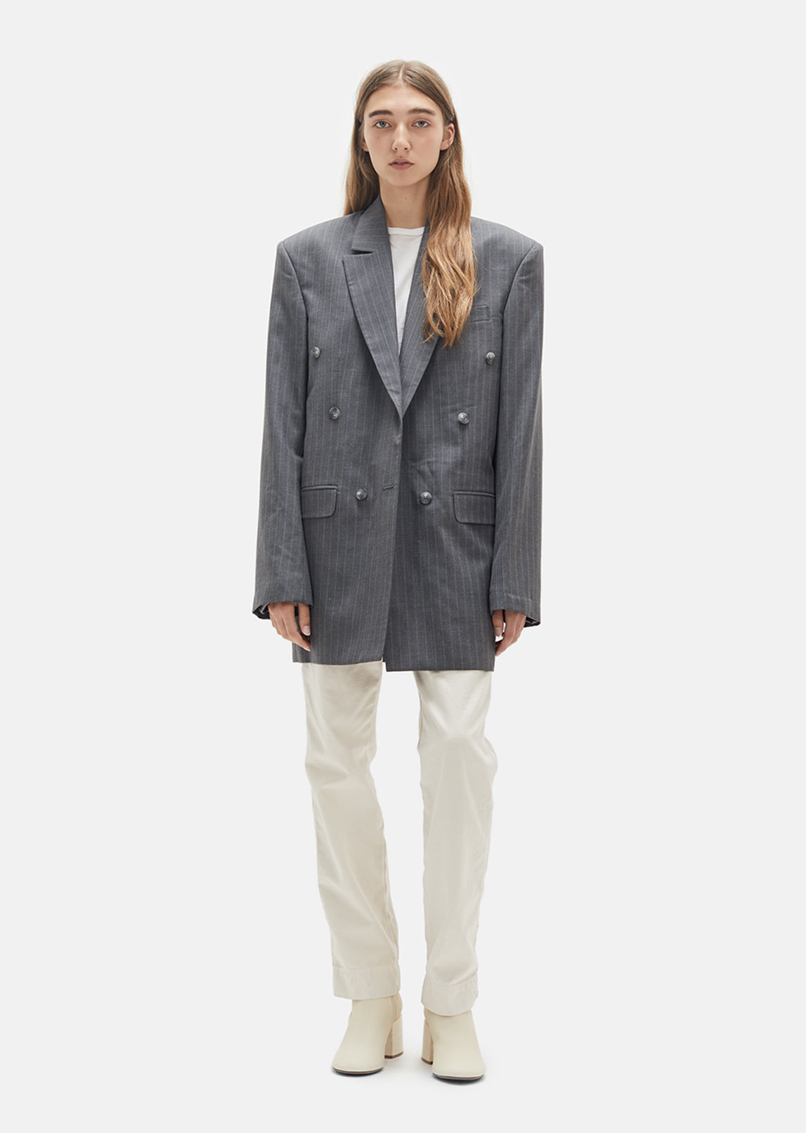 Low Break Double Breasted Unisex Blazer