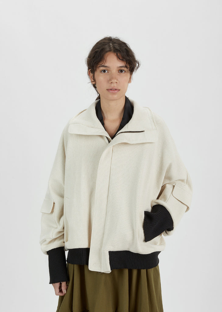 Oversized Cotton Blouson Jacket