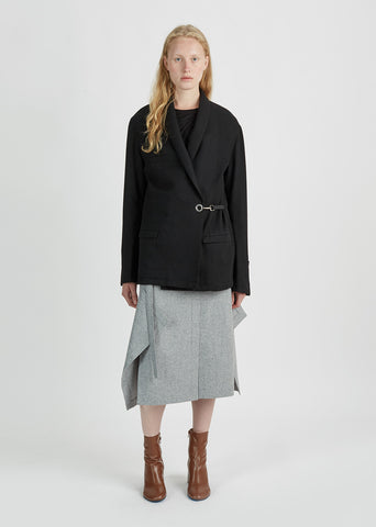 Alpaca Wool Shawl Collar Jacket