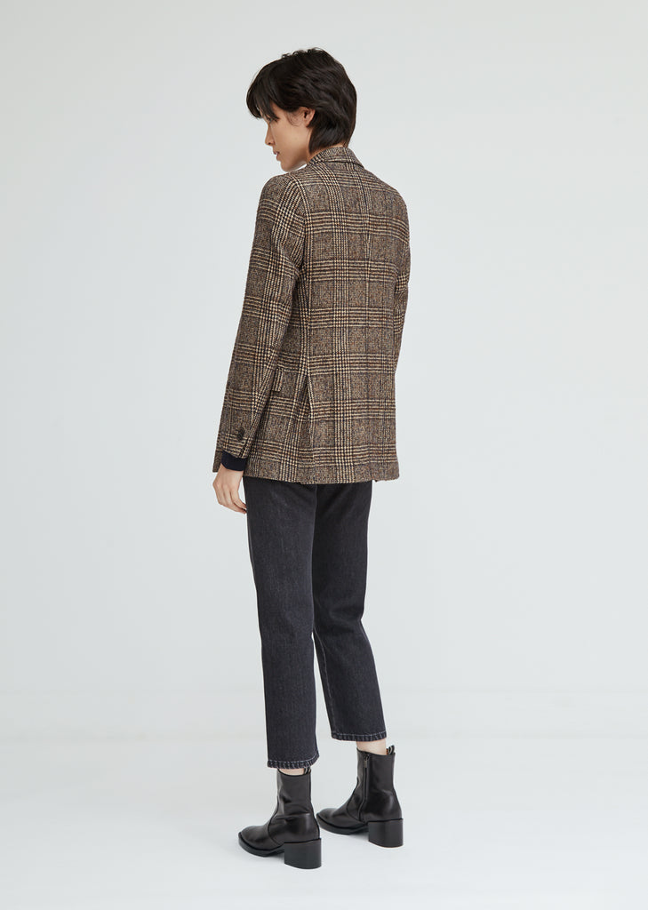 Manon Houndstooth Check Blazer
