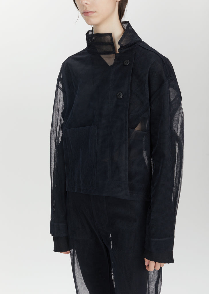 Shifted Seam Box Nylon Jacket