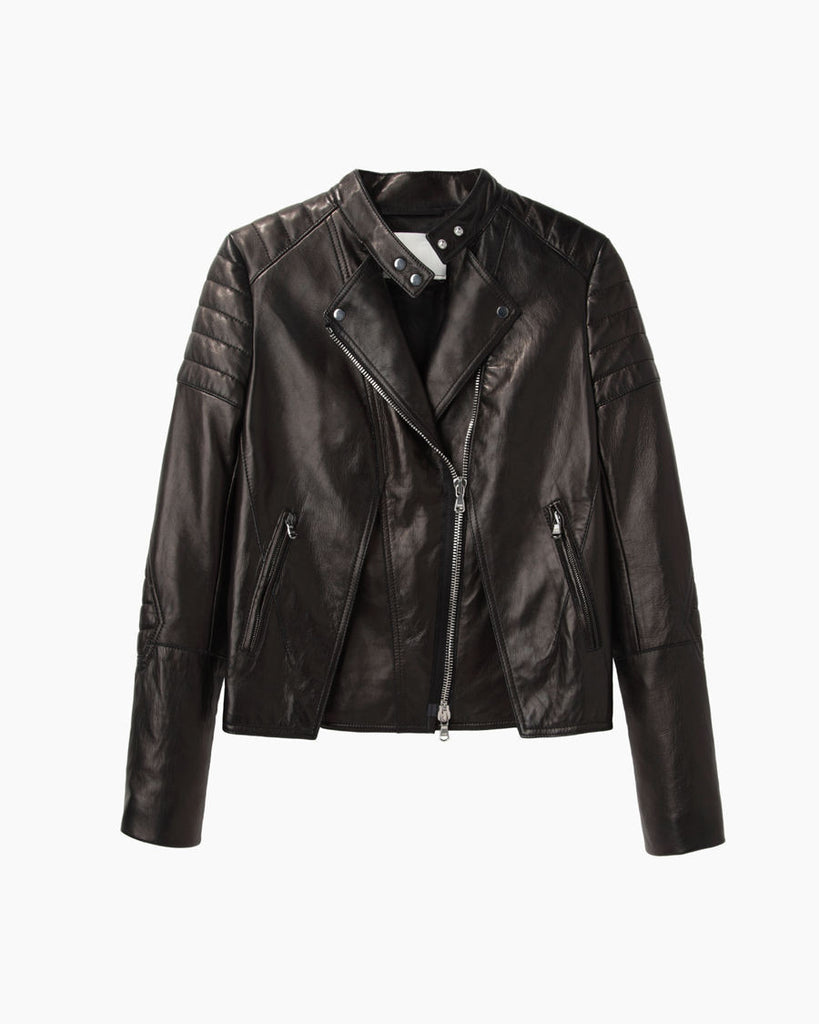 Cross Front Biker Jacket