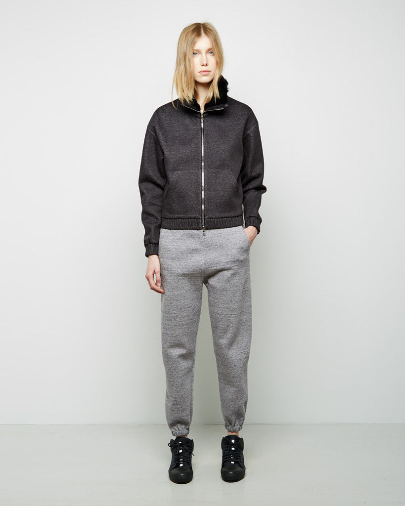 Zip-Up With Rabbit Fur Collar