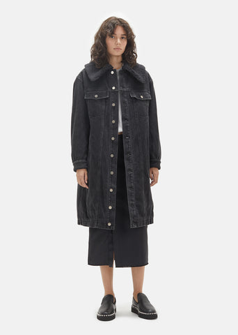 Sherpa Lined Denim Coat