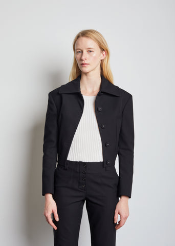 Cropped Stretch Cotton Jacket