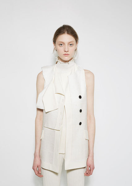 Proenza Schouler Tweed Suiting Vest La Garconne