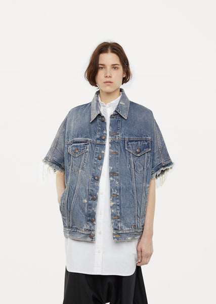 Drop Shoulder Denim Vest