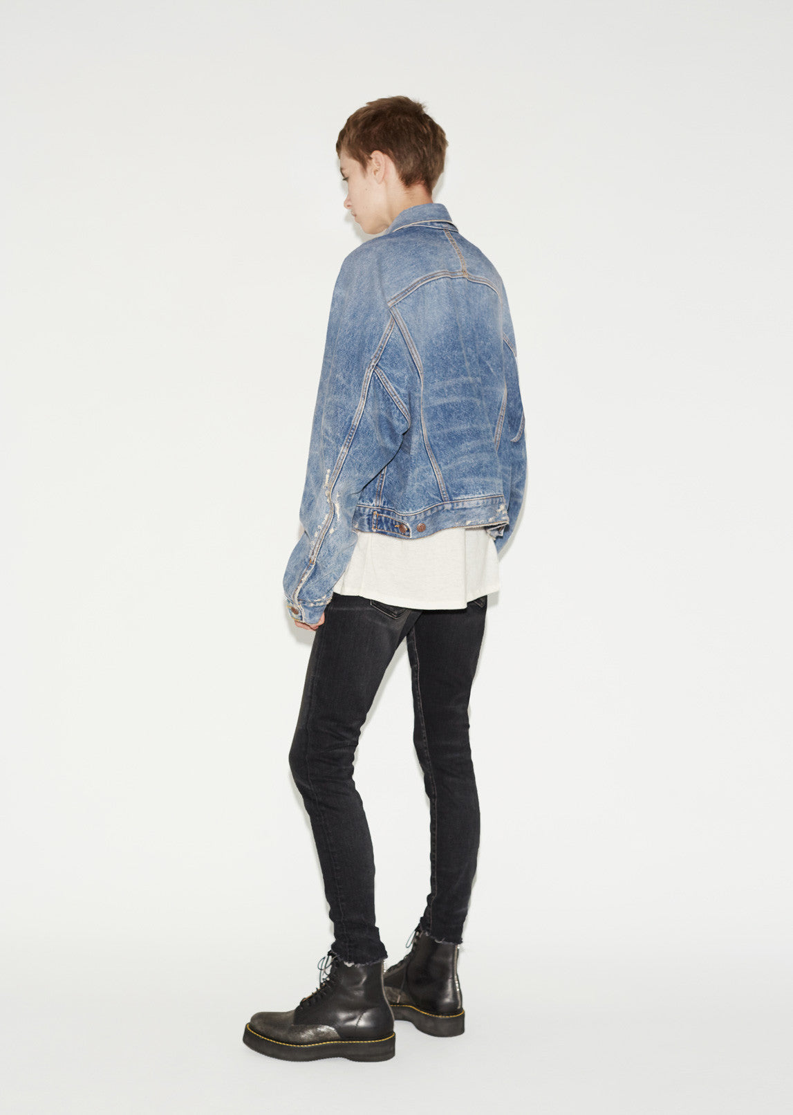 Raglan Trucker Denim Jacket