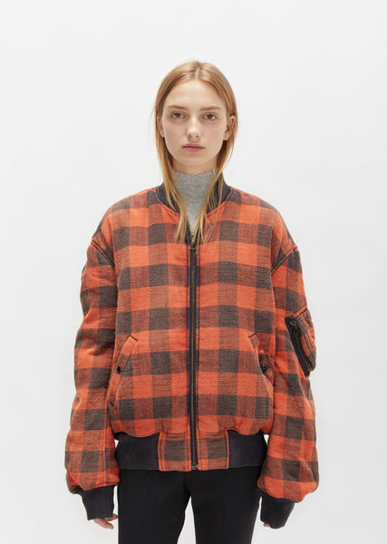 Reversible Double Plaid Flight Jacket