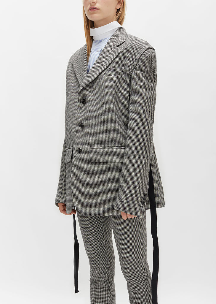 Notched Lapel Single Breasted Blazer