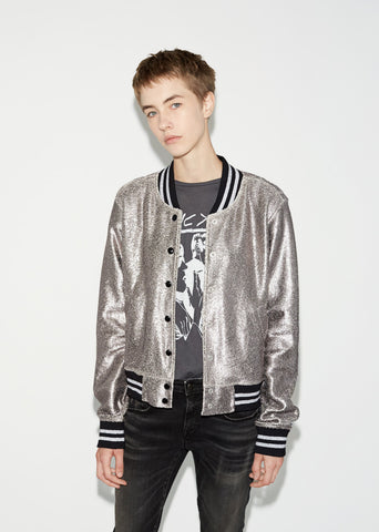 Shrunken Metallic Roadie Jacket