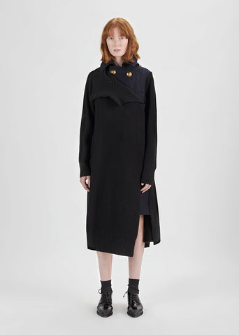 Melton Wool Dress Long Jacket