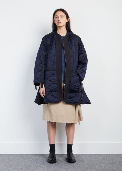 Silk Quilted Grid Jacket