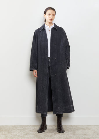 Luster Belted Selvage Denim Coat