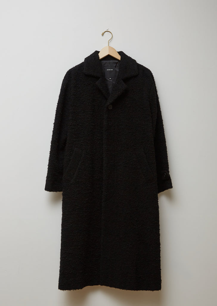 Wool Blend Boucle Coccon Coat