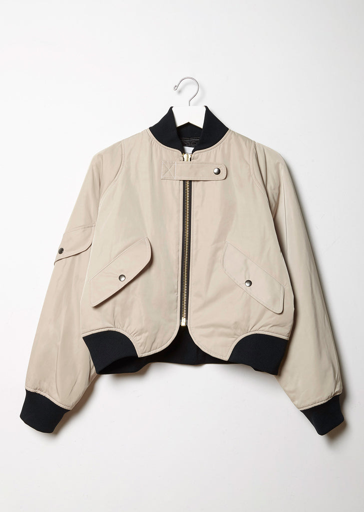 Cropped Flight Bomber Jacket