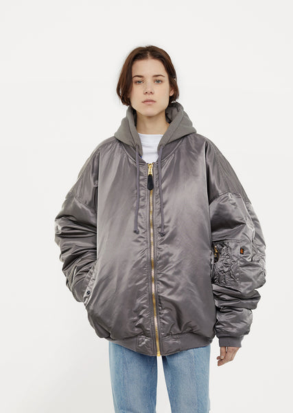 X Alpha Industries Oversized Reversible Bomber