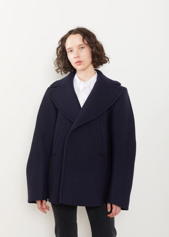 Oversized Caban Jacket