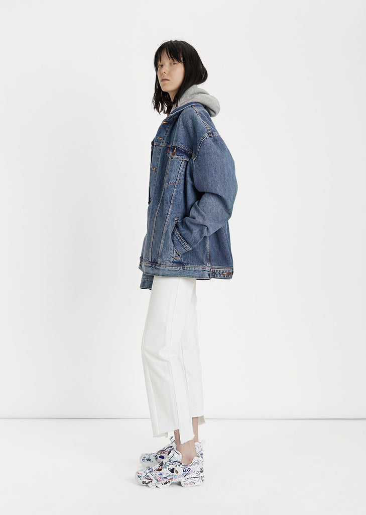 X Levi's Hooded Denim Jacket